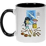 Mug Manga - Parodie Saint Seiya / Chevaliers du Zodiaque - Un choix très difficile... - Mug Noir - Haute Qualité (261)
