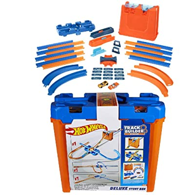 Mega Hot Wheels Track Builder Deluxe Stunt Box: Toys & Games