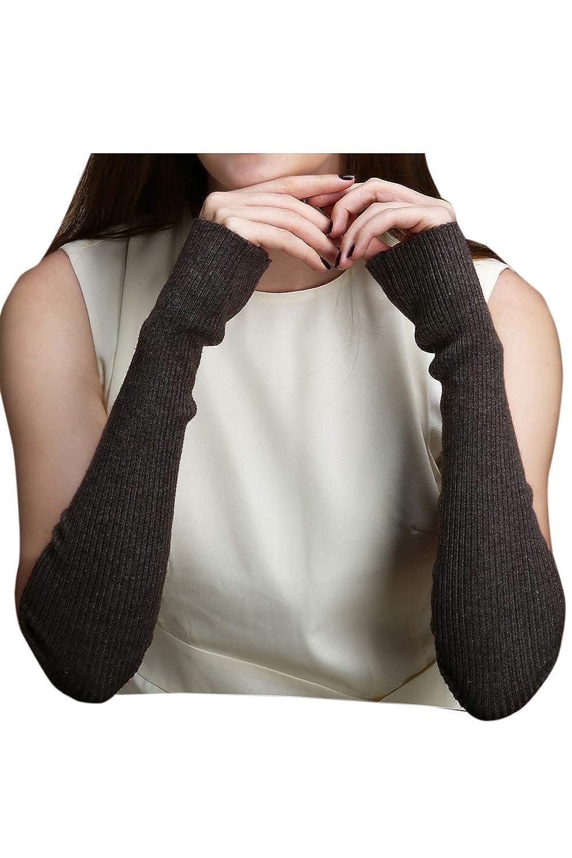 Fanvans Womens Gloves Knit Arm Warmers Fingerless Thumb Hole Mittens