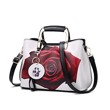 7afacd689e85 Amazon.com  Purses and Handbags Top Handle Satchel Shoulder Bags for Women  Ladies PU Leather Totes From Nevenka (4)  Clothing