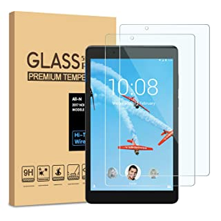 [2-Pack] PULEN Screen Protector for Lenovo Tab E8,HD Easy Installation Anti-Fingerprints 9H Hardness Tempered Glass for Lenovo Tab E 8 Tablet TB-8304F/TB-8304F1(8.0 Inch)