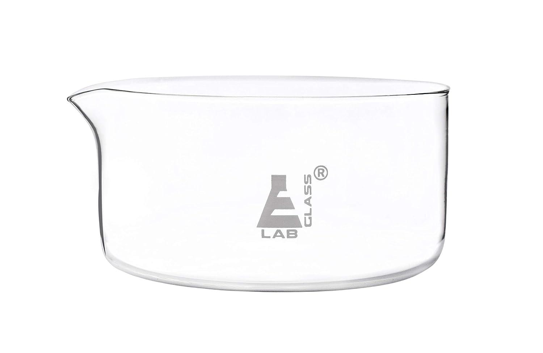 Borosilicate 3.3 Glass Eisco Labs 1000ml Crystallizing Dish with Spout Laboratory Crafts Flat Bottom Kitchen