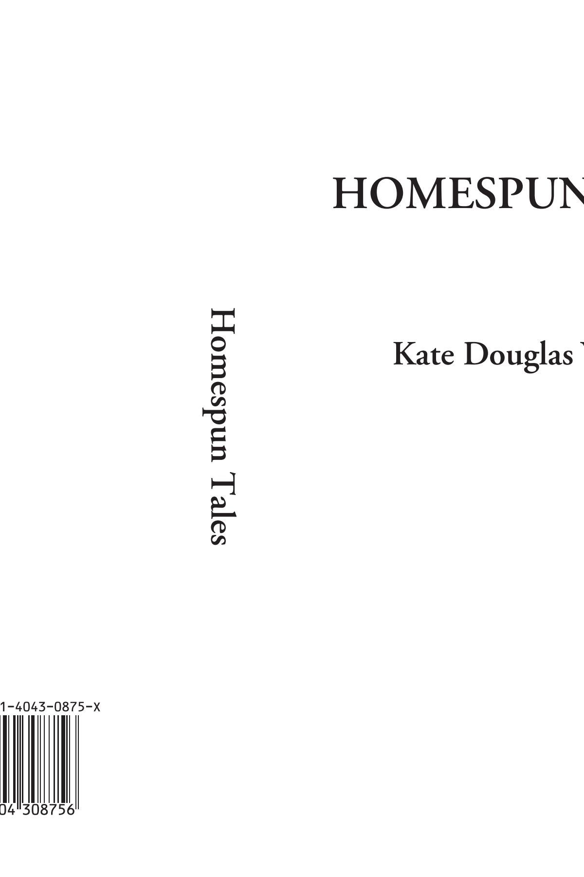 Homespun Tales pdf