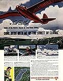 Ted Bellak Dove of Peace Glider Pilot for Conoco Motor Oil ad 1940 SEP