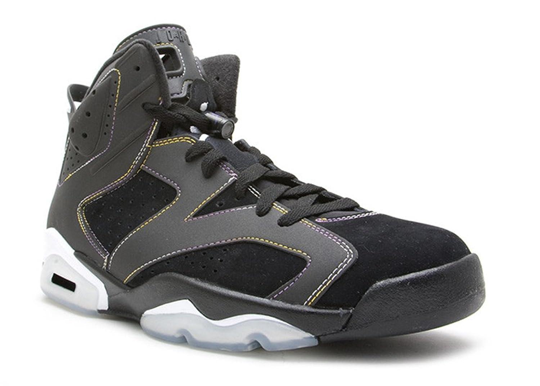 buy online d4836 24760 becca wilson Man comfortable sport basketball shoes Air Jordan 6 Black  Retro lakers blk vrsty prpl