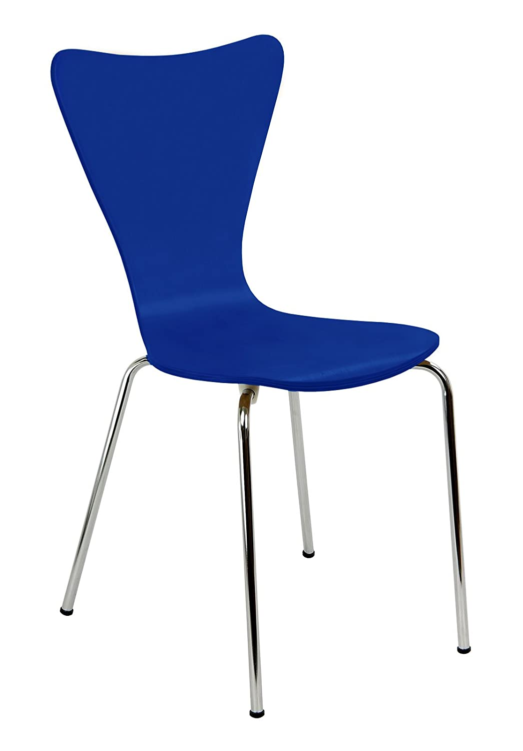 Legare Bent Plywood Chair, Blue