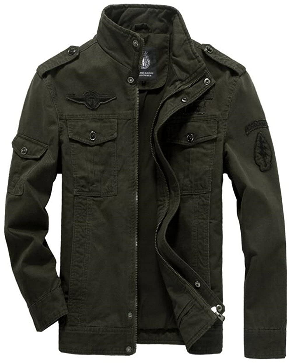 Jinmen Men's Fashion Cotton Jackets Military Air Force Bomber Jackets