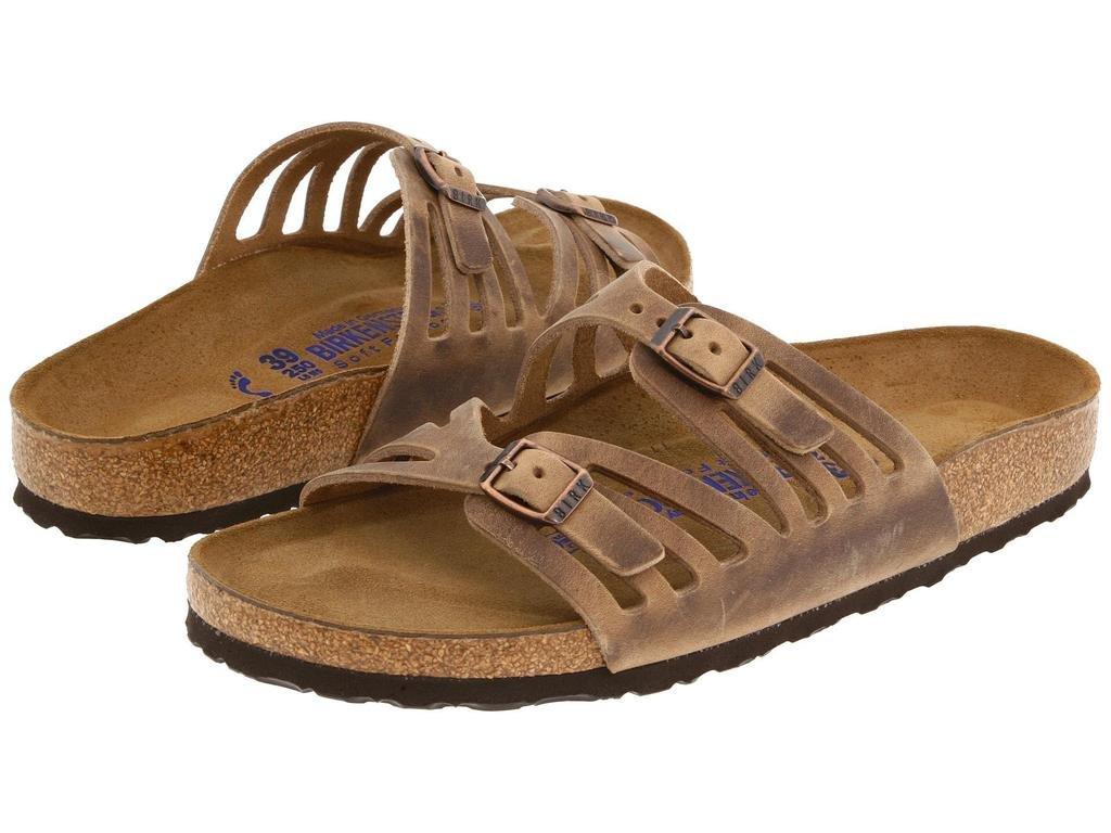 Birkenstock Women's Granada Soft Footbed Sandal,Tobacco Oiled Leather,37 N EU