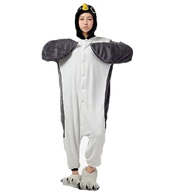 Adult Grey Penguin Onesie Costume for Women Men Kigurumi Pajamas Animal Cosplay Partywear S  sc 1 st  Amazon.com & Amazon.com: Grey Penguin Onesie Costume for Women Men Kigurumi ...