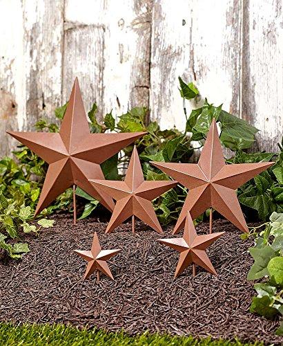 Garden Lakeside (The Lakeside Collection Set of 5 Star Garden Stakes- Rustic)