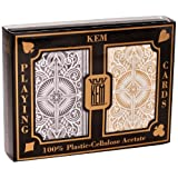 Copag 10-7400 Kem Black and Gold Bridge Size Jumbo Index Playing Cards