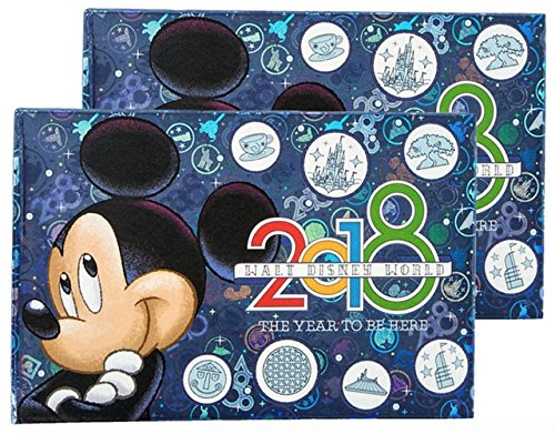Disney Parks Bundle of 2 - Walt Disney World 2018 Year to Be Here Small Photo Album Holds 100