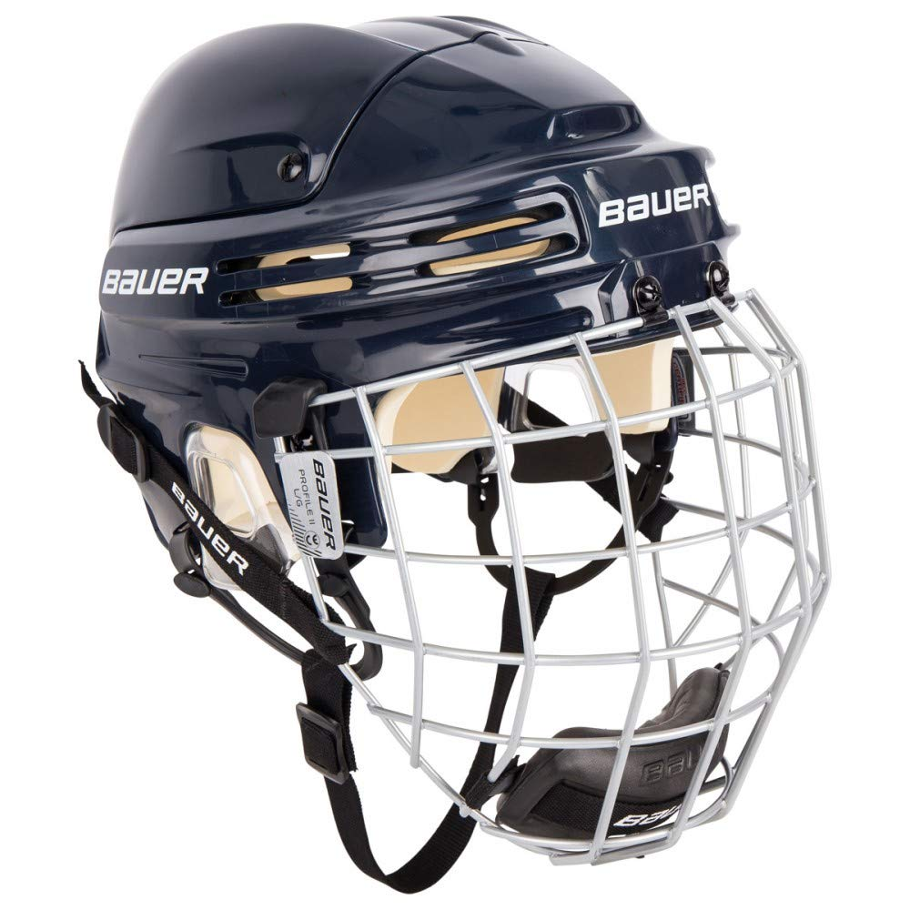 Bauer New 4500 Ice Hockey Helmet Combo with Cage Navy Large 1044665