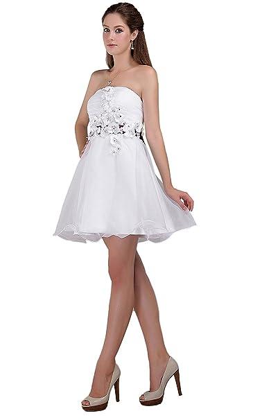 Orient de novia de blanco para coser vestidos de mujer fiestas Bridemaid con lazo y pedrería