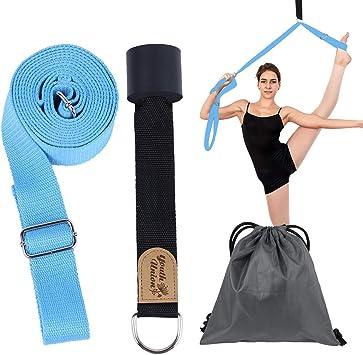 YouthUnion Cintura Pierna Fitness Correa Entrenamiento Estiramiento,Durable Cotton Exercise Straps, Ejercicio,Ideal para Ballet,Baile de Baile,Gimnasio,Pilates (Azul): Amazon.es: Deportes y aire libre