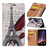 OnePlus 6 Wallet Case,JYZR OnePlus 6 PU Leather Kickstand Flip Wallet with Credit Card Phone Case for OnePlus 6,Feather Tower