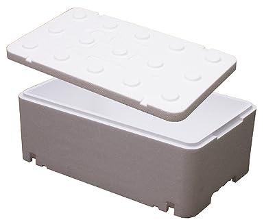 Poliestireno Caja térmica Caja nevera portátil 40 cm x 30 cm x 12 ...