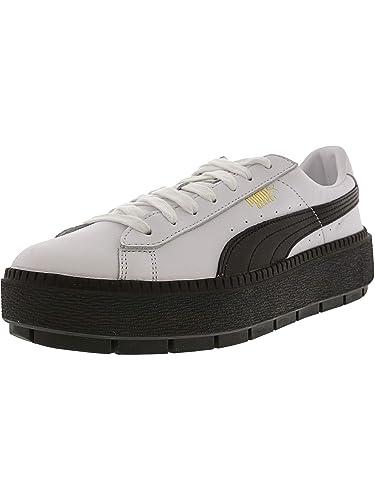 hot sale online d3a5d daffb Amazon.com | Puma Women's Platform Trace L White/Black Ankle ...