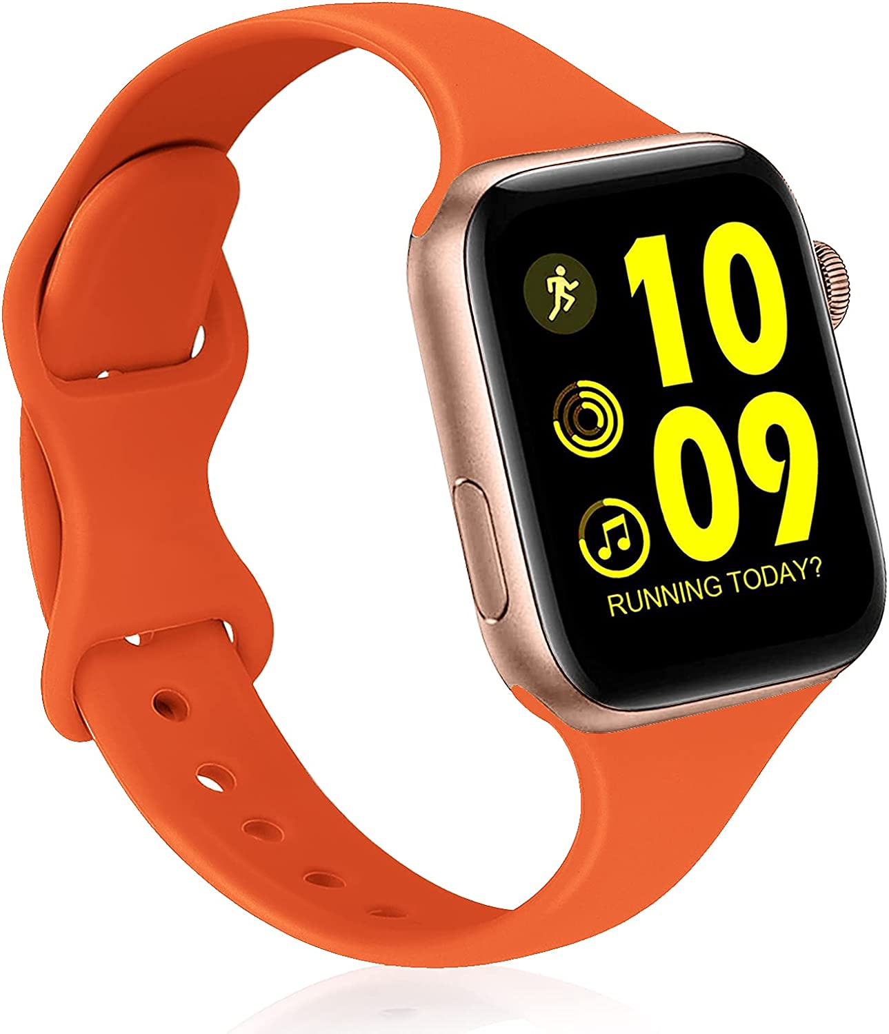 AIRPROEC Sport Bands Compatible with Apple Watch Band 38mm 40mm 42mm 44mm Slim Thin Skinny Narrow Silicone Replacement Strap Wristband for iWatch Series 6/5/4/3/2/1/SE Women Men