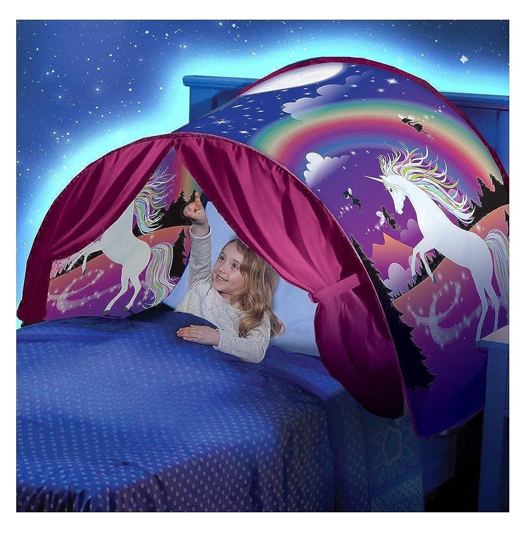 Kangrunmys Tente De Lit Enfant Pop Up Garcon Fille Ciels de Lit Moustiquaires
