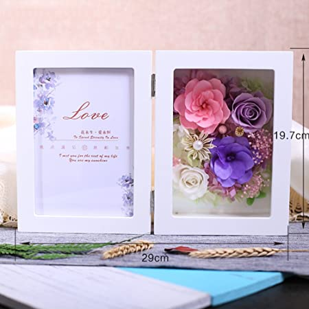 Europeo Viven Portaretrato Flor/Creative Living Caja De Regalo De Marco De Foto De Flor/Pulsera De Los Amantes De La Minimalista-I: Amazon.es: Hogar