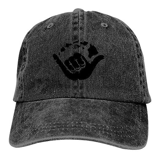 b496c99d Shaka Hand Hawaii Islands Unisex Vintage Cotton Dad Hat Adjustable Baseball  Cap Black at Amazon Men's Clothing store: