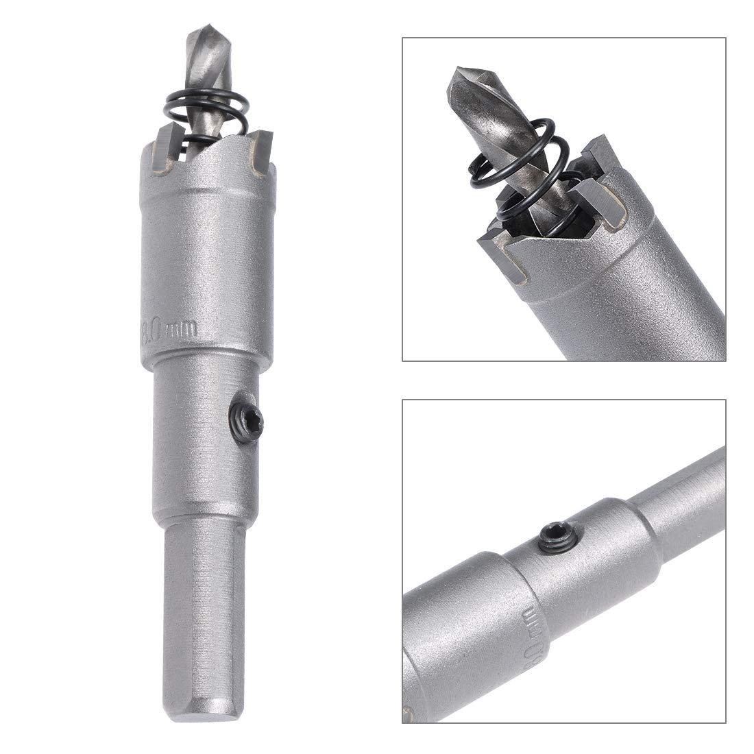 Broca para sierra perforadora Sourcingmap acero inoxidable, 18 mm