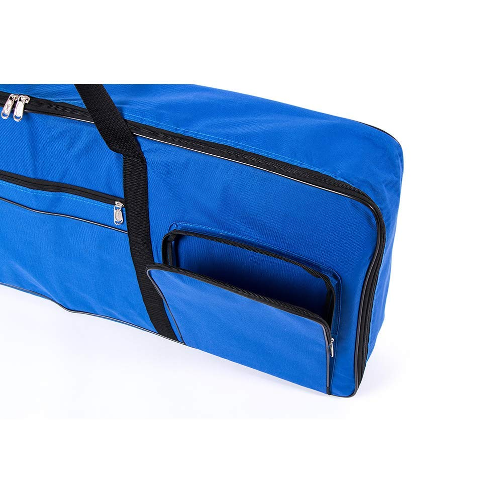 Blue 61 Key Keyboard Gig Bag Case,Portable Electric Keyboard Piano Waterproof 600D Oxford Cloth with 10mm Cotton Padded Case Gig Bag 40x16x6