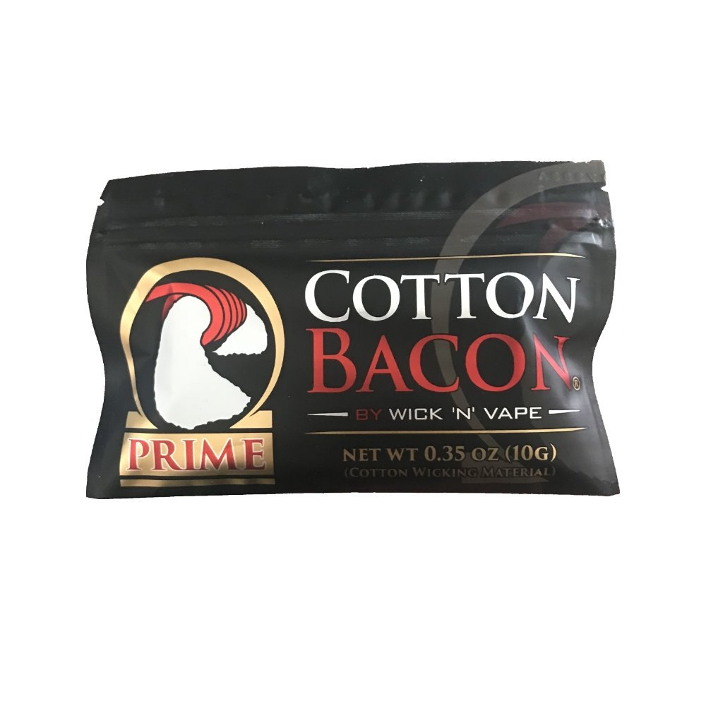 Cotton Bacon Prime - Quickest Absorption Cotton Around - 1 Bag (10 Strips of Cotton)