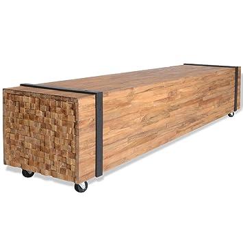 vidaXL Teca Mueble para TV 150x30x30 cm Soporte Mesa Aparador Cómoda Televisor: Amazon.es: Electrónica