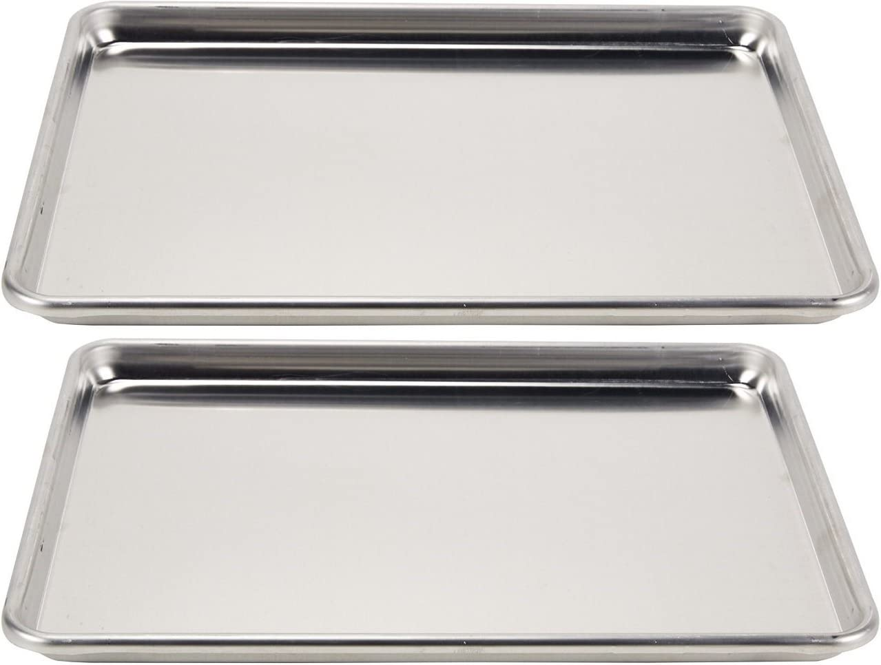 5314 Vollrath Wear-Ever Collection Half-Size Sheet Pans Set of 2 18-Inch x 13-Inch, Aluminum