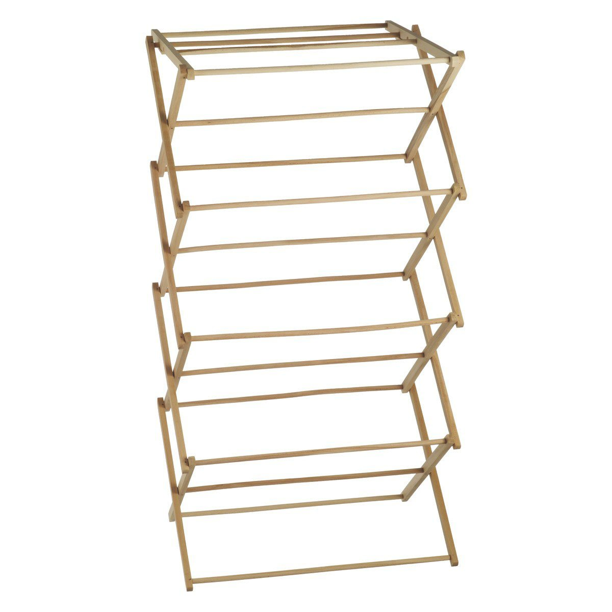 it dp kitchen wooden stand rack com amazon heavy drying clothes cloth bamboo duty home