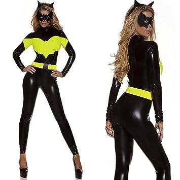 XDB Lencería Mujer Mono Disfraz de Disfraz de superheroe Gato Mujer Costume Catsuit Traje con Mascara