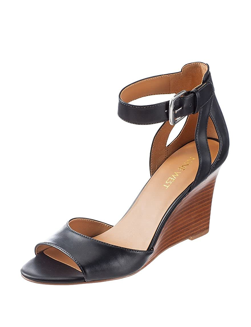 79a0243a720 Amazon.com | Nine West Womens Floyd Black Leather Sandal 11 M ...
