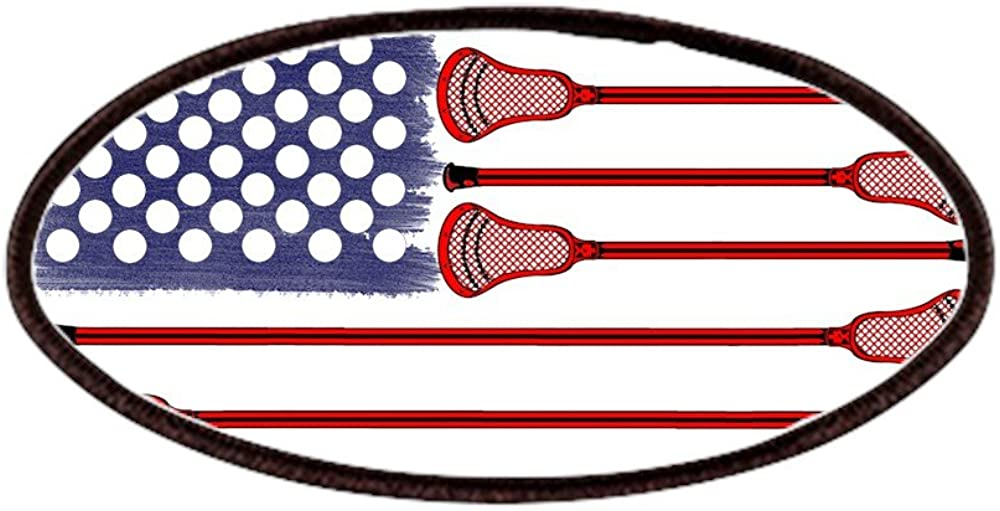 4x2in Printed Novelty Applique Patch CafePress Lacrosse Americasgame Patches Patch