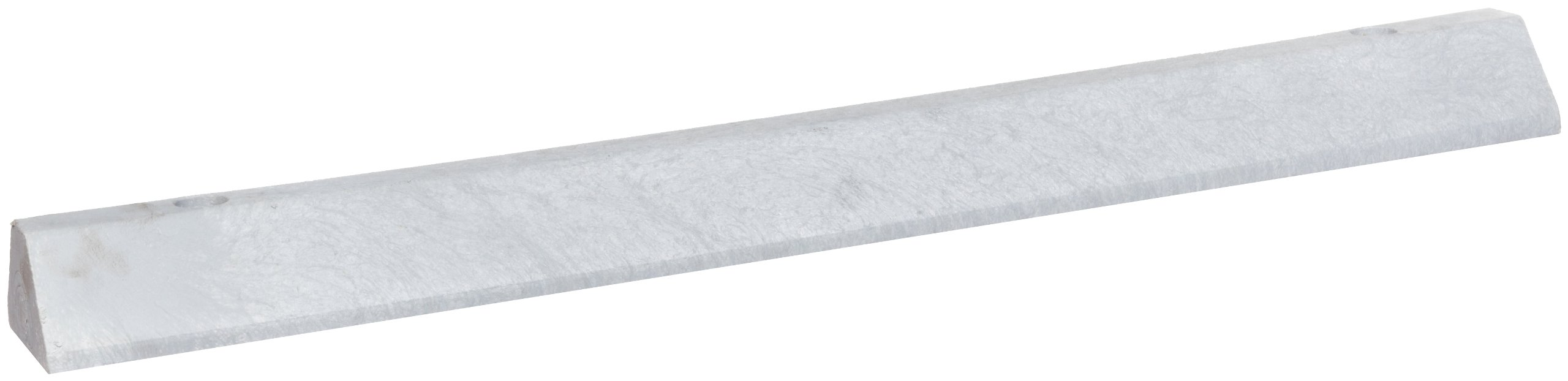 Lotblocks CS4S-SG Plastic Deluxe Car Parking Stop with Hardware, Gray, 48'' Length, 6'' Width, 4'' Height