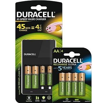 Duracell AA y cargador pilas AAA con 2 aa Estándar & 4 aa ...