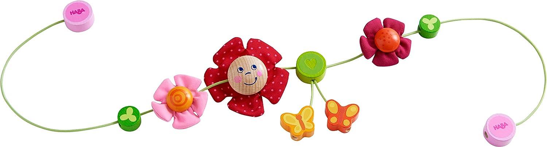 Haba 303822 Baby-Spielzeug f/ür den Kinderwagen Wagenkette mit bunten Blumen- und Schmetterlingsmotiven Kinderwagenkette Schmetterlingsfreunde