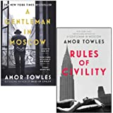 A Gentleman in Moscow & Rules of Civility By Amor Towles 2 Books Collection Set