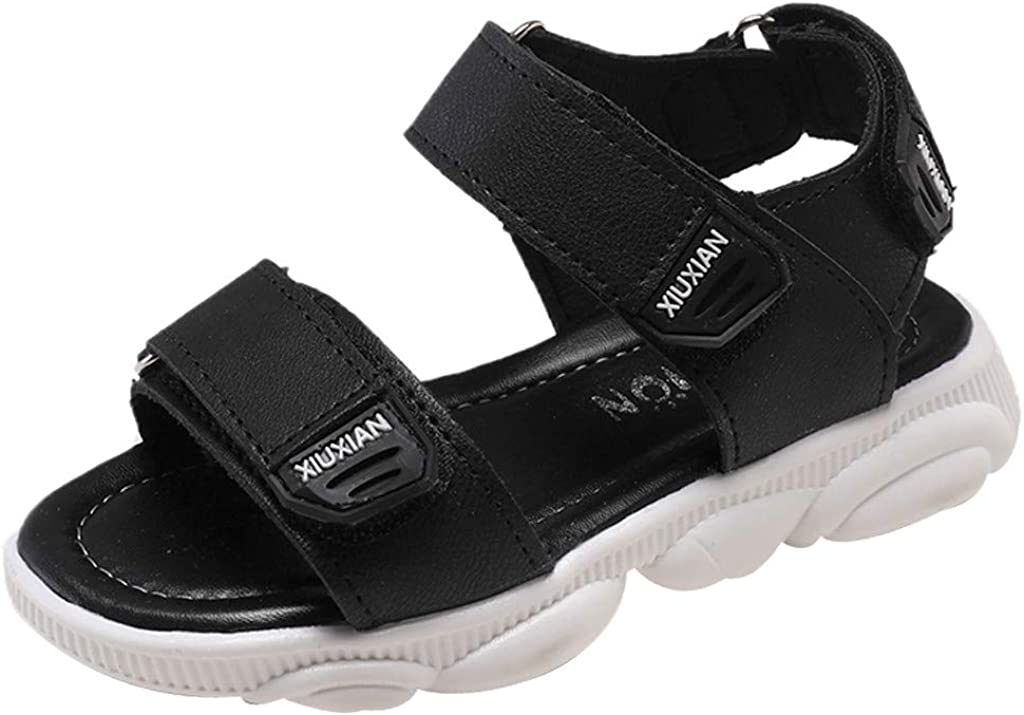 28, Black Anyren Children Sandals Boys Of Fashion Beach Shoes Girls Breathable Casual Shoes
