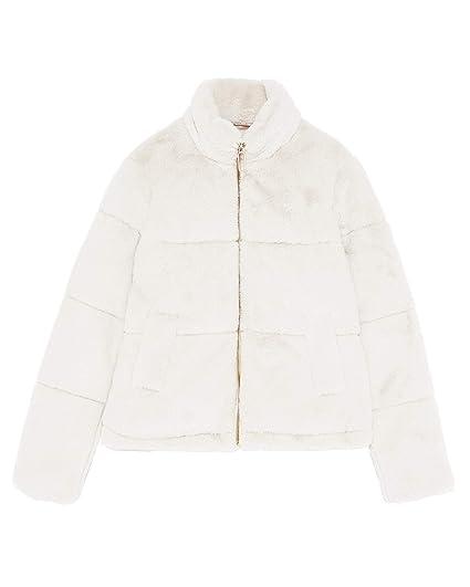 1a99074b Zara Women's Faux Fur Jacket 8073/033 Off-White: Amazon.co.uk: Clothing