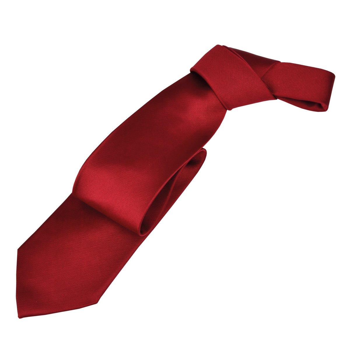 J.PLOENES Seda - Corbata roja Longitud Extra, One Size:One Size ...