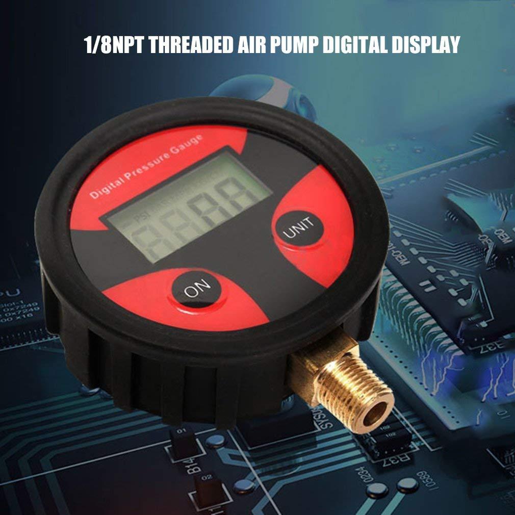 SEN 1 8NPT Pompa Digitale Gonfiabile Display Digitale della Pressione dei Pneumatici Manometro Digitale Nero