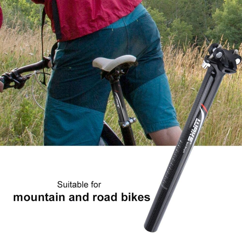 Qii lu Fahrrad Sattelst/ütze Leichte Carbon Fahrrad Sattelst/ütze Sattelrohr Ersatz Sattelst/ütze f/ür Mountain Road Fahrrad Faltrad MTB Schwarz