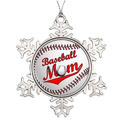 xmas trees decorated baseball mom outdoor christmas snowflake ornaments mom