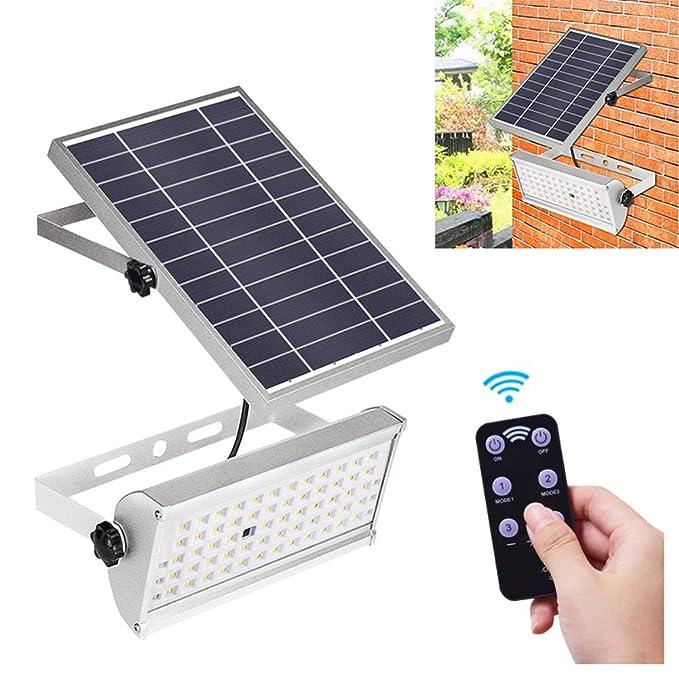 DZWJ Luz Solar de inundación, Luces solares Exterior 65 LED ...