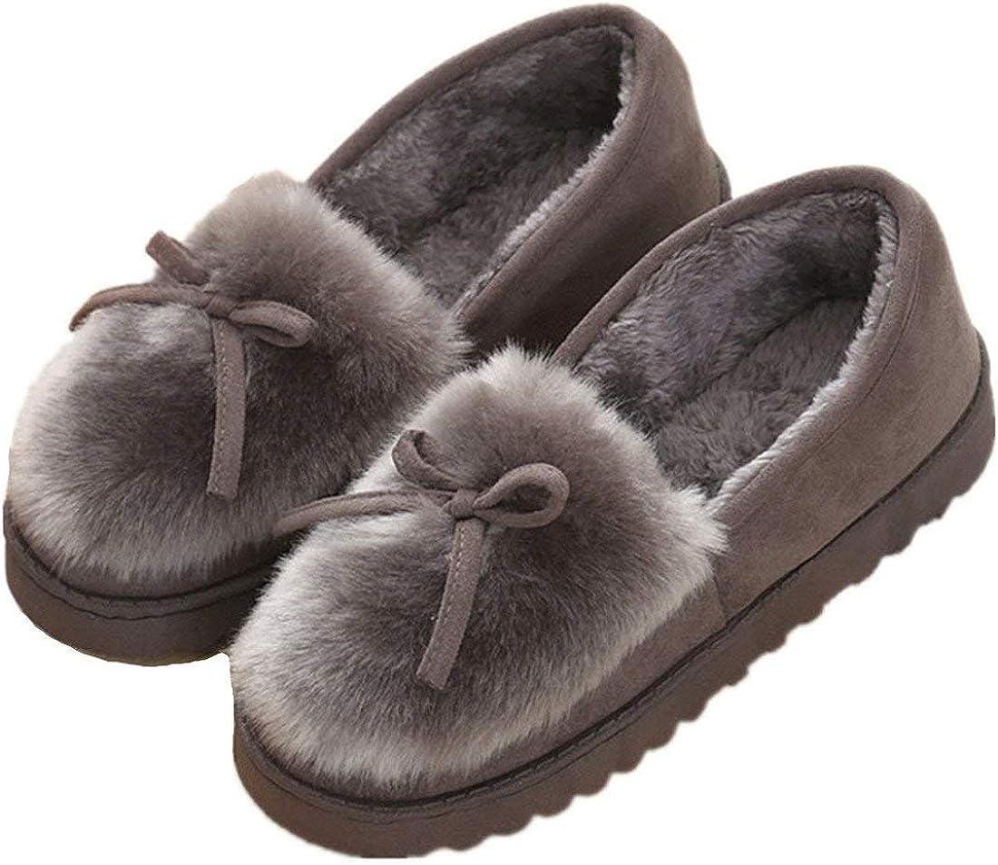 Mujer Zapatillas de Estar Invierno casa Cerradas Calienta con Comodidad Pantuflas