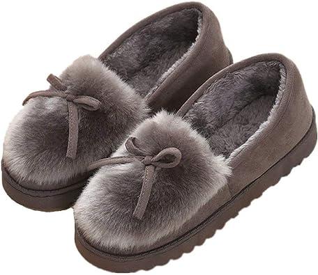 Mujer Zapatillas de Estar Invierno casa Cerradas Calienta con Comodidad Pantuflas: Amazon.es: Zapatos y complementos