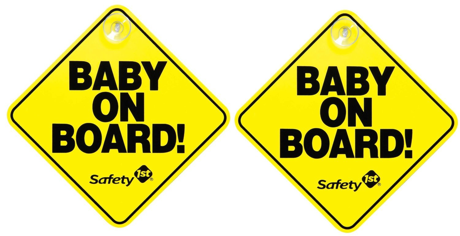 Safety 1st Baby On Board Sign, 2-Pack 48918