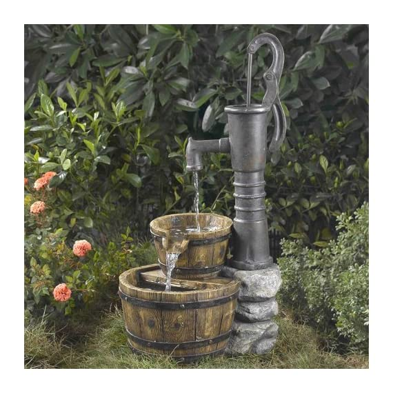 Old Fashioned Pump Water Fountain - Durable Polynesian & fiberglass construction Package Dimensions: 43.7 L x 50H x45W(centimeters) Package Weight : 8.051 kilograms - patio, outdoor-decor, fountains - 61bXIVRgqkL. SS570  -
